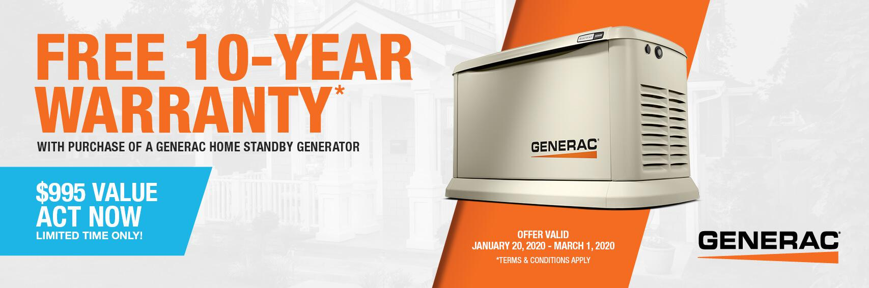 Homestandby Generator Deal | Warranty Offer | Generac Dealer | Midland, MI